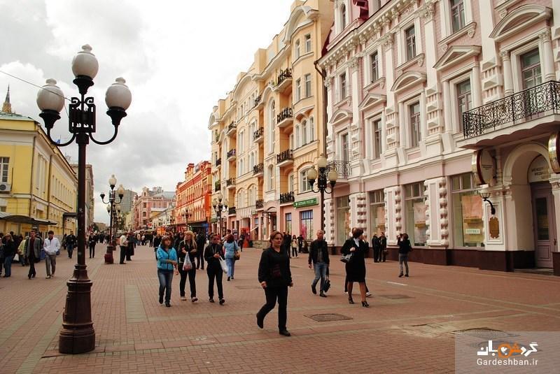 خیابان آربات، از قدیمی ترین خیابان های مسکو، عکس