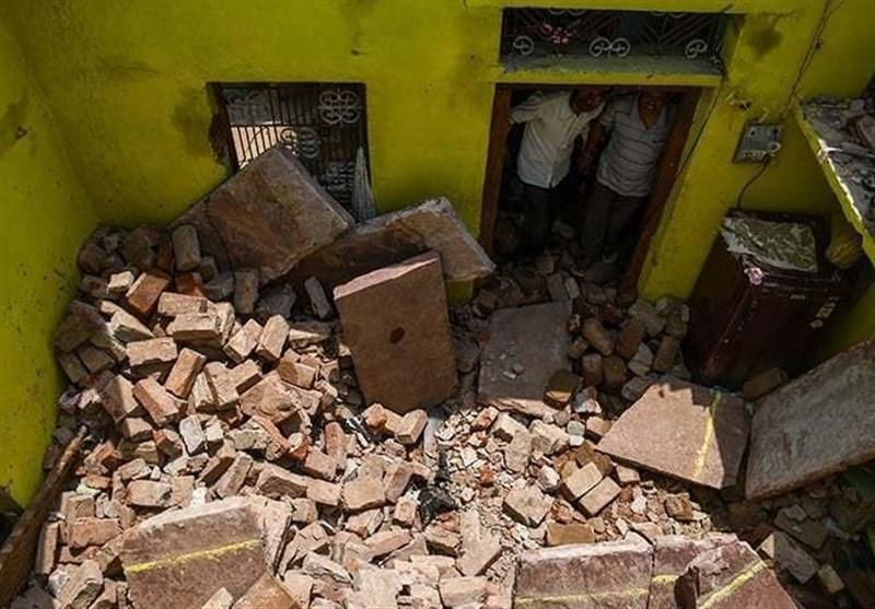 طوفان نیسارگا 1865 خانه را در هند از بین برد