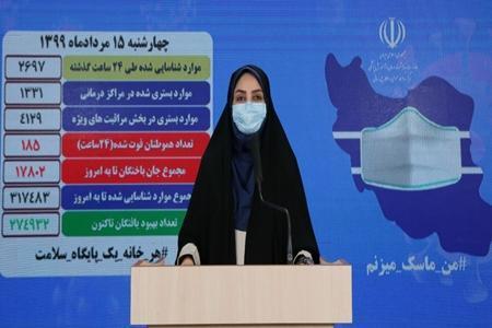 آخرین آمار کرونا در ایران، 185 مبتلاء فوت کردند