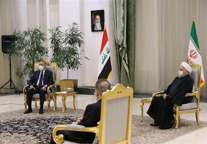 عراق، الکاظمی عید قربان را به روحانی تبریک گفت، تاکید بر گسترش همکاری تهران-بغداد