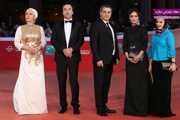 بازیگران فیلم جاودانگی روی فرش قرمز جشنواره فیلم رم
