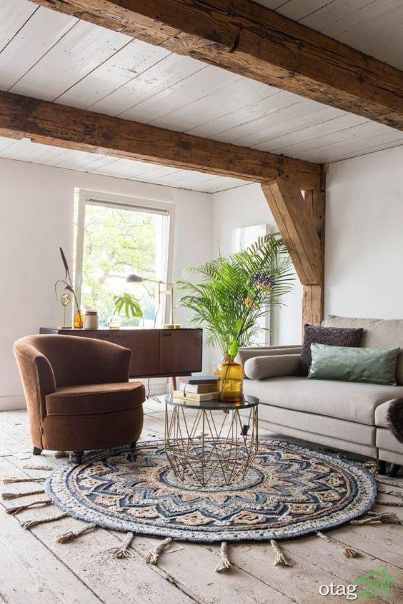 فرش گرد مخصوص دکوراسیون خانه های عظیم و کوچک